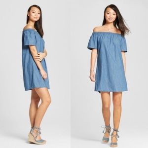 ⚡️ Merona Off The Shoulder Chambray Dress XS